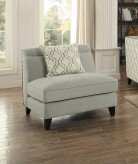 Homelegance Temptation Light Gray Armless Chair Available Online in Dallas Fort Worth Texas