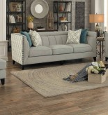Homelegance Temptation Light Gray Sofa Available Online in Dallas Fort Worth Texas