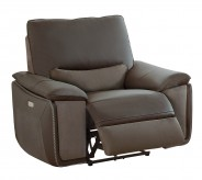 Homelegance Corazon Navy Gray Power Reclining Chair Available Online in Dallas Fort Worth Texas