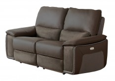 Homelegance Corazon Navy Gray Power Double Reclining Love Seat Available Online in Dallas Fort Worth Texas