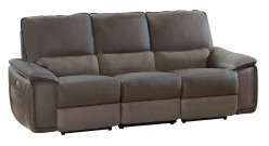 Homelegance Corazon Navy Gray Power Double Reclining Sofa Available Online in Dallas Fort Worth Texas