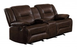 Homelegance Okello Brown Double Glider Reclining Love Seat Available Online in Dallas Fort Worth Texas