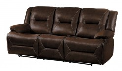 Homelegance Okello Brown Double Reclining Sofa Available Online in Dallas Fort Worth Texas