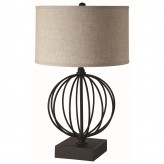 Coaster Scott Black Linen Shade Table Lamp Available Online in Dallas Fort Worth Texas