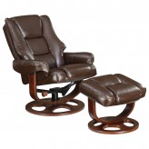 Coaster Dia Dark Brown Glider Recliner with Ottoman Available Online in Dallas Fort Worth Texas