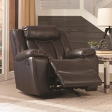 Coaster Bevington Chocolate Glider Recliner Available Online in Dallas Fort Worth Texas