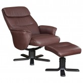 Coaster Dia Brown Chair and Ottoman Available Online in Dallas Fort Worth Texas