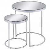 Coaster Mauve Chrome 2Pc Nesting Table Available Online in Dallas Fort Worth Texas