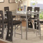 Coaster Los Feliz Matte Silver Counter Height Table Available Online in Dallas Fort Worth Texas
