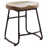 Coaster Rec Room Driftwood Dining Height Stool Available Online in Dallas Fort Worth Texas