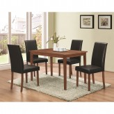Coaster Dinettes 5pc Walnut and Dark Brown Dining Table Set Available Online in Dallas Fort Worth Texas