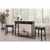 Coaster Dinettes 3pc Black Dining Table Set Available Online in Dallas Fort Worth Texas