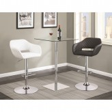 Coaster Rec Room Chrome Bar Table Available Online in Dallas Fort Worth Texas