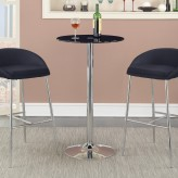 Coaster Rec Room Chrome Round Bar Table Available Online in Dallas Fort Worth Texas
