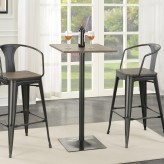 Coaster Rec Room Dark Elm and Matte Square Black Bar Table Available Online in Dallas Fort Worth Texas