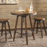 Coaster Hornell Weathered Oak Bar Table Available Online in Dallas Fort Worth Texas