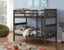 Donco Brushed Grey Twin/Twin Mission Bunk Bed Available Online in Dallas Fort Worth Texas