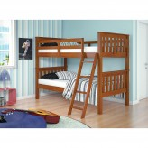 Donco Espresso Twin Over Twin Mission Bunk Bed Available Online in Dallas Fort Worth Texas