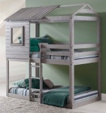 Donco Light Grey Twin/Twin Deer Blind Bunk Bed Available Online in Dallas Fort Worth Texas