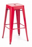 Detroit Red Metal Barstool Available Online in Dallas Fort Worth Texas