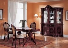 VIG Regina Mahogany Dining Table Available Online in Dallas Fort Worth Texas