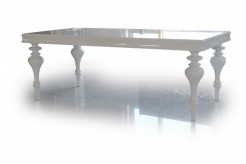 VIG Versus Bella White Lacquer Dining Table Available Online in Dallas Fort Worth Texas