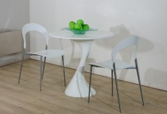 VIG Modrest Twist White Lacquer Round Dining Table Available Online in Dallas Fort Worth Texas