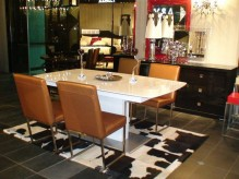 VIG A&X Centro White High Gloss Dining Table Available Online in Dallas Fort Worth Texas