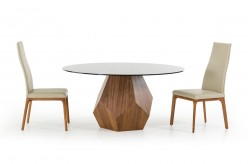 VIG Rackham Walnut Round Dining Table Available Online in Dallas Fort Worth Texas
