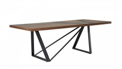 Spectra Walnut & Grey Dining Table Available Online in Dallas Fort Worth Texas