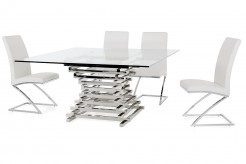 VIG Crawford Clear Glass Square Dining Table Available Online in Dallas Fort Worth Texas