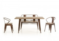 VIG Ford Copper & Wood Dining Table Available Online in Dallas Fort Worth Texas