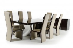 VIG Christa Ebony High Gloss Dining Table Available Online in Dallas Fort Worth Texas