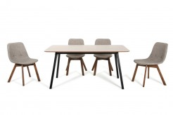VIG Laken Walnut & Black Dining Table Available Online in Dallas Fort Worth Texas