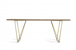 Marcia Tobacco & Antique Brass Dining Table Available Online in Dallas Fort Worth Texas