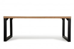 VIG Reese Aged Oak Dining Table Available Online in Dallas Fort Worth Texas