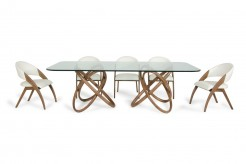 Mason Glass & Walnut Dining Table Available Online in Dallas Fort Worth Texas