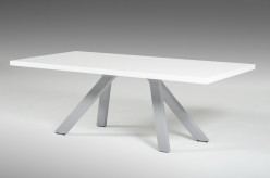 Vanguard White And Grey Dining Table Available Online in Dallas Fort Worth Texas