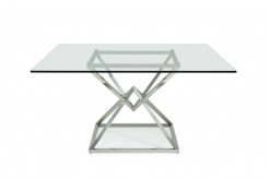 VIG Xander Square Glass Dining Table Available Online in Dallas Fort Worth Texas