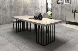 Hope Grey Gloss Dining Table Available Online in Dallas Fort Worth Texas
