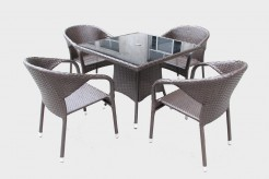 Renava Tobago 5pc Outdoor Brown Dining Table Set Available Online in Dallas Fort Worth Texas