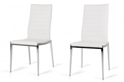 Libby White Leatherette Dining Chair Available Online in Dallas Fort Worth Texas