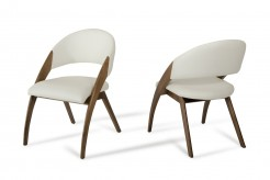 Lucas Cream & Walnut Dining Chair Available Online in Dallas Fort Worth Texas