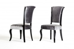 Seema Grey & Black Dining Chair Available Online in Dallas Fort Worth Texas