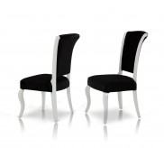 Seema Black & White Dining Chair Available Online in Dallas Fort Worth Texas