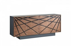 Spectra Walnut & Grey Buffet Available Online in Dallas Fort Worth Texas