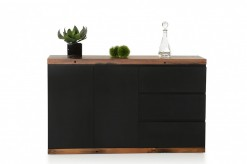 Norse Black & Ship Wood Buffet Available Online in Dallas Fort Worth Texas