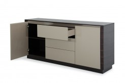A&X Caligari Oak & Grey Gloss Buffet Available Online in Dallas Fort Worth Texas