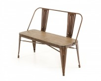 Edison Copper & Wood Bench Available Online in Dallas Fort Worth Texas
