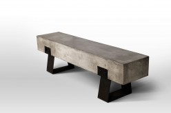 VIG Haring Concrete Bench Available Online in Dallas Fort Worth Texas